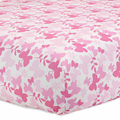 Just Born Pink Cotton Fitted Crib Sheet