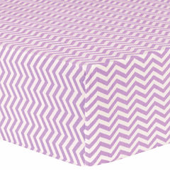 Trend Lab Lilac Chevron Delux Flannel  Crib Sheet