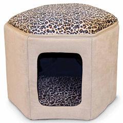 K & H Manufacturing Kitty Sleephouse Tan/Leopard Unheated 12