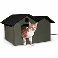 K & H Manufacturing Outdoor Kitty House Extra-Wide heated, 26.5