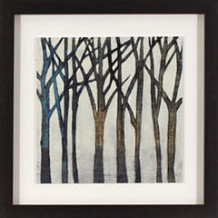 Decor Therapy Birch Line in Black and Gold Wood Grain Frame