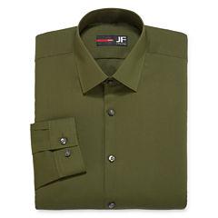 JF J.Ferrar Easy-Care Solid-Big & Tall Long Sleeve Broadcloth Dress Shirt