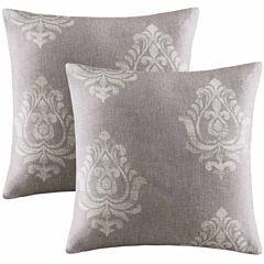Madison Park Kensington Texture Damask Throw Pillow Pair
