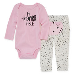 Okie Dokie Cotton 2-pc. Bodysuit Set-Baby Girls