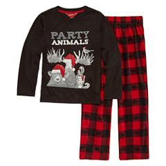 Arizona Husky 2 pc Party Animals Pajama Set - Boys