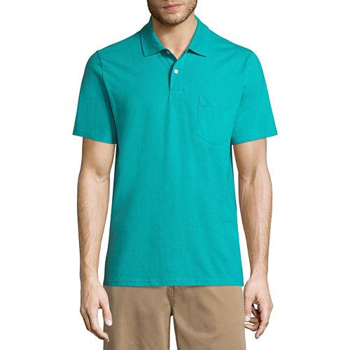 St. John's Bay Easy Care Quick Dry Short Sleeve Jersey Polo Shirt