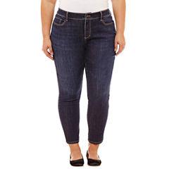 St. John's Bay Secretly Slender Skinny Ankle Jean-Plus