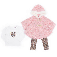 Little Lass 3-pc. Legging Set-Baby Girls