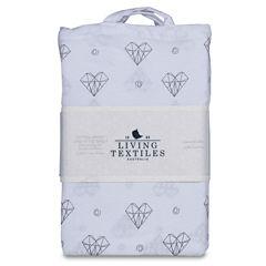 Living Textiles Sketched Hearts Crib Sheet