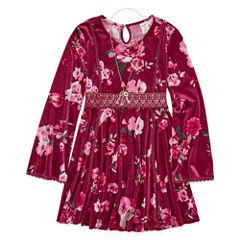 Arizona Long Sleeve Bell Sleeve Peasant Dress - Big Kid Girls