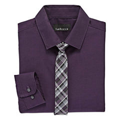 Van Heusen Shirt + Tie Set - 8-20 Boys