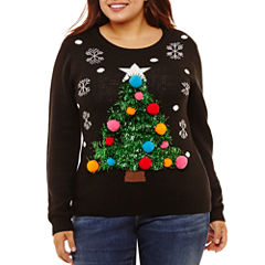 Ugly Christmas Tree Sweater-Juniors Plus
