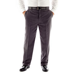 Stafford® Travel Flat-Front Suit Pants - Portly
