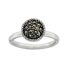 Personally Stackable Marcasite Sterling Silver Stackable Ring