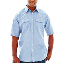 Red Kap® Short-Sleeve Western-Style Shirt–Big & Tall