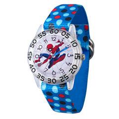 Spiderman Boys Blue Strap Watch-Wma000183