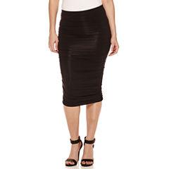 Bisou Bisou Shirred Tube Jersey Skirt