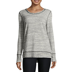 Xersion Long Sleeve Crew Neck Pullover Sweater-Talls