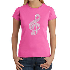 Los Angeles Pop Art Women's T-Shirt - Music Note