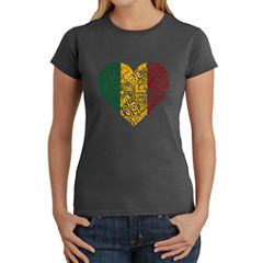 Los Angeles Pop Art Women's T-Shirt - One Love Heart
