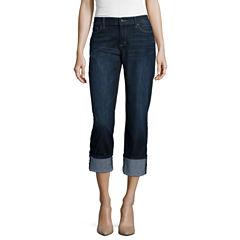 Liz Claiborne Curvy Fit Straight Leg Jeans