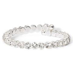 Vieste Silver-Tone Rhinestone Coil Bracelet