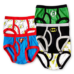 Justice League 5-pk. Briefs - Boys 4-8
