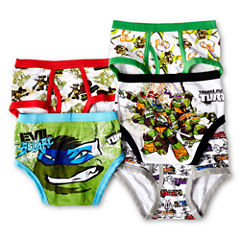 Ninja Turtles 5-pk. Briefs - Boys 4-8