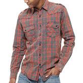 Decree Long Sleeve Plaid Button-Front Shirt