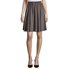 Worthington Knit Pleated Skirt