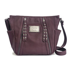 nicole By Nicole Miller Janelle Top Zip Crossbody Bag