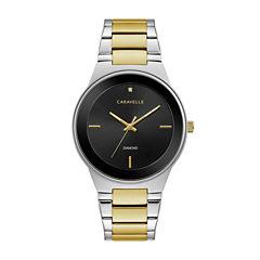 Caravelle Mens Two Tone Bracelet Watch-45d107