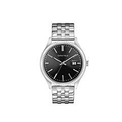 Caravelle Mens Silver Tone Bracelet Watch-43b157