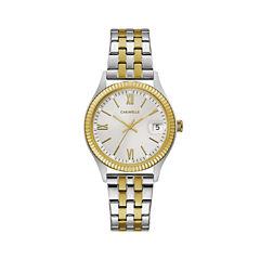 Caravelle Womens Two Tone Bracelet Watch-45m112