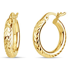 Not Applicable 18K Gold Over Silver Hoop Earrings