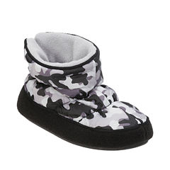 Dearfoam Camo Bootie Slippers - Boys