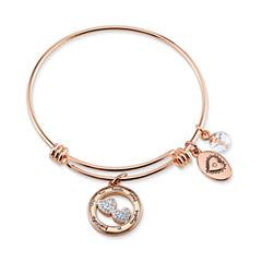 Footnotes Womens Silver Over Brass Bangle Bracelet