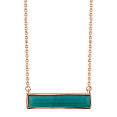 Footnotes Womens Silver Over Brass Pendant Necklace