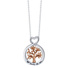 Footnotes Womens Sterling Silver Pendant Necklace