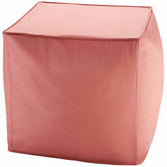 Madison Park Mission 3M Scotchgard Outdoor Square Pouf