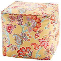 Madison Park Cambria 3M Scotchgard Outdoor Pouf