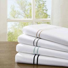 Madison Park 400tc Embroidered Cotton Sateen Sheet Set