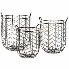 Madison Park Rylee Wire Bins Set Of 3