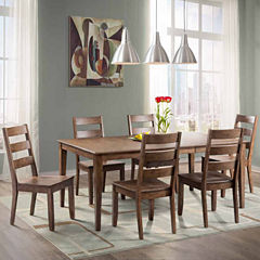 Dining Possibilities 7 Piece Rectangular Table With Ladder Back Chairs