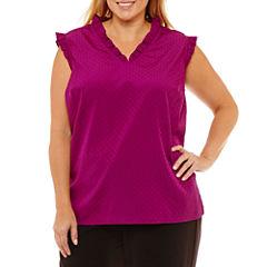 Liz Claiborne Ruffle Shell- Plus