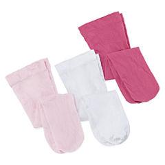 Okie Dokie® 3-pk. Opaque Tights - Baby Girls newborn-24m