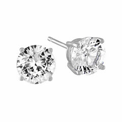 Limited Time Special! Lab Created White Sapphire Stud Earrings in Sterling Silver