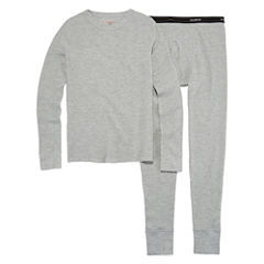 Hanes Xtemp Crew Neck Long Sleeve Thermal Set Boys