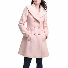 BGSD Women's Mia Wool Blend Shawl Collar Walking Coat