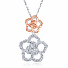 Enchanted by Disney 1/5 C.T. T.W. Diamond Sterling Silver With 14K Rose Gold Accent